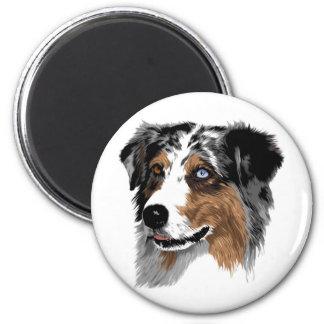 Australian Shepherd 6 Cm Round Magnet