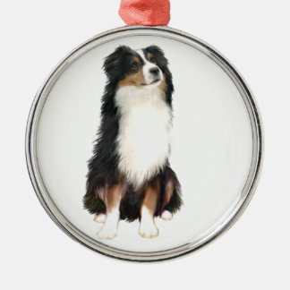 AUSTRALIAN SHEPHERD (A) - Tri Color Christmas Ornament