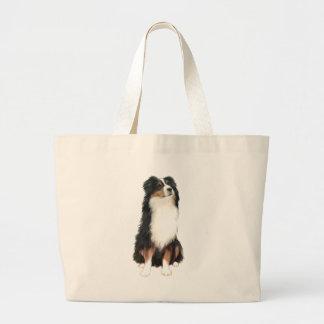 Australian Shepherd (A) - Tri Color Large Tote Bag