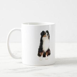 Australian Shepherd (A) - Tri Color Basic White Mug
