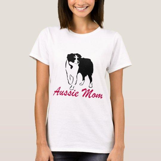 Australian Shepherd Aussie Mum T-Shirt