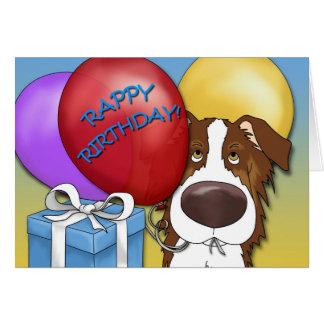 Australian Shepherd Birthday Card