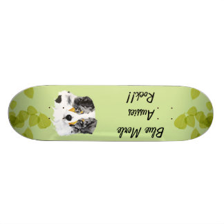Australian Shepherd - Blue Merle Aussies Rock!! Skateboard Decks