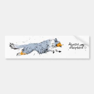 Australian Shepherd, blue merle Bumper Sticker