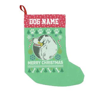 Australian Shepherd  Breed Ugly Christmas Sweater Small Christmas Stocking