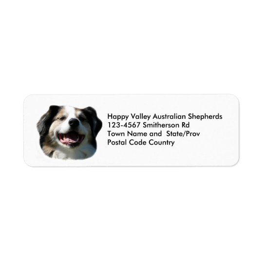 Australian Shepherd Breeder Sticker Return Address Label