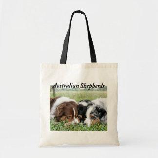 Australian Shepherd Canvas Tote Bag