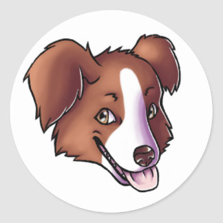 Australian Shepherd Classic Round Sticker
