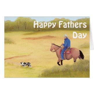 Australian Shepherd ~ Cowboy ~ Morning Ride Card