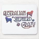 AUSTRALIAN SHEPHERD CRAZY MOUSE PAD