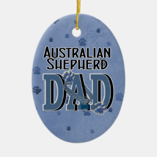 Australian Shepherd DAD Christmas Ornament