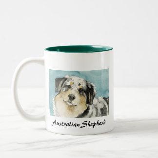 """"""" Australian Shepherd"""" Dog Ar Mug"""