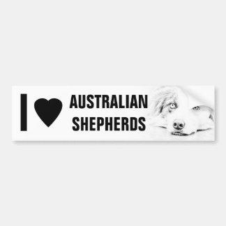 Australian Shepherd dog art Bumper Sticker