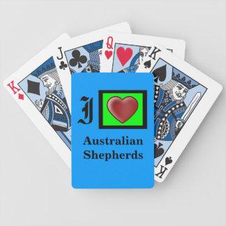 """Australian Shepherd Dog"" Bicycle Cards"