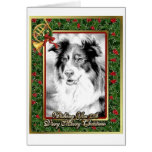Australian Shepherd Dog Blank Christmas Card