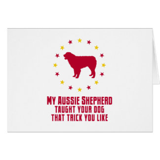 Australian Shepherd Dog Card