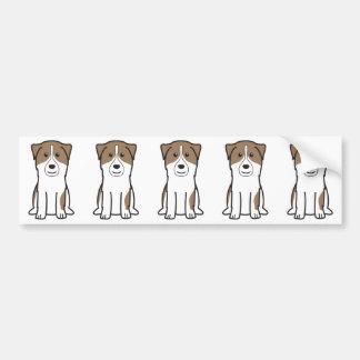 Australian Shepherd Dog Cartoon Bumper Stickers