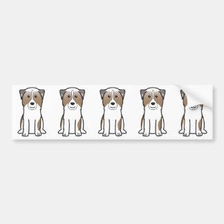 Australian Shepherd Dog Cartoon Bumper Sticker