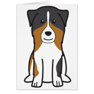 Australian Shepherd Dog Cartoon Card