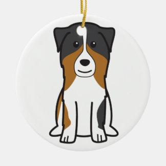 Australian Shepherd Dog Cartoon Christmas Ornament