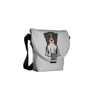 Australian Shepherd Dog Cartoon Courier Bags