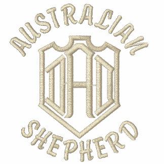 Australian Shepherd Dog Dad Embroidered Shirt
