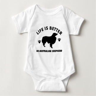 Australian Shepherd dog design Baby Bodysuit