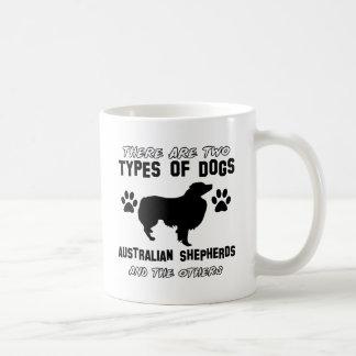 australian shepherd dog designs basic white mug