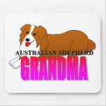 Australian Shepherd Dog Grandma Mouse Pad
