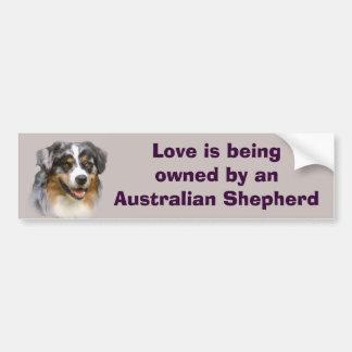 Australian Shepherd Fabulous Bumper Sticker Car Bumper Sticker
