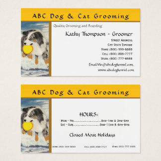 Australian Shepherd Frisbee Dog Business Card