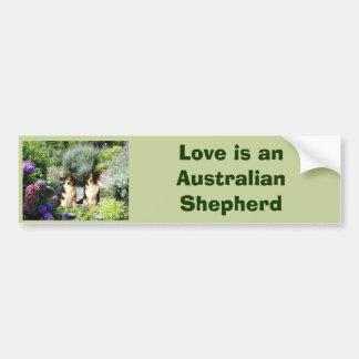 Australian Shepherd Garden Bumper Sticker Car Bumper Sticker