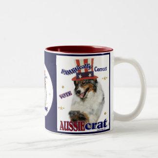 Australian Shepherd Gifts Two-Tone Coffee Mug