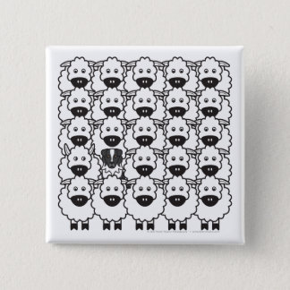 Australian Shepherd in the Sheep 15 Cm Square Badge