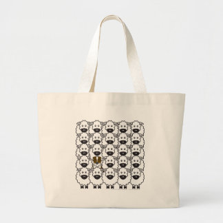 Australian Shepherd in the Sheep Large Tote Bag