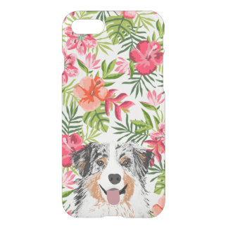 Australian Shepherd iphone clear case -  hawaiian