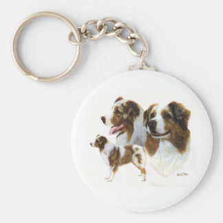 Australian Shepherd Key Ring