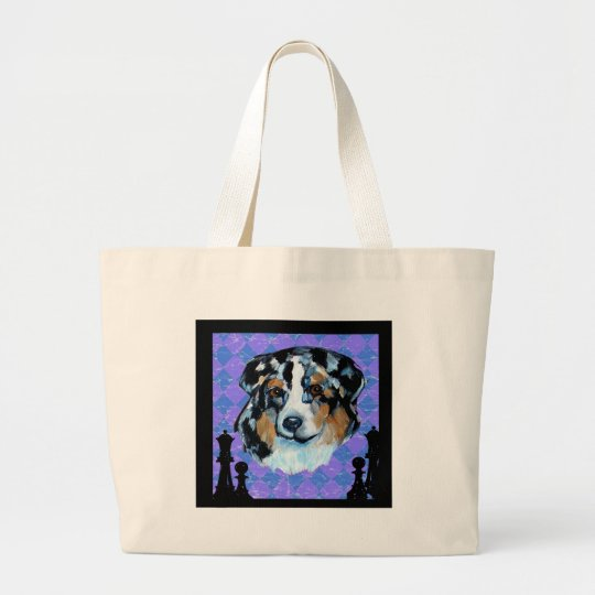 AUSTRALIAN SHEPHERD LARGE TOTE BAG