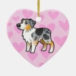Australian Shepherd Love (add your own message) Ornament