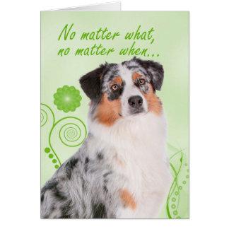 Australian Shepherd Love/Support Card