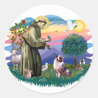 Australian Shepherd (merle) Round Sticker