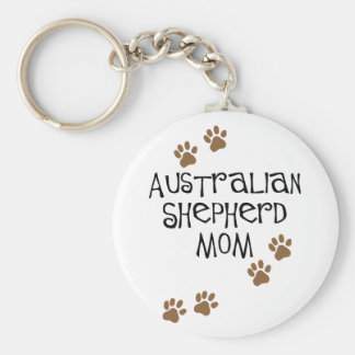 Australian Shepherd Mom Key Ring