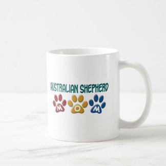 AUSTRALIAN SHEPHERD MOM Paw Print Basic White Mug