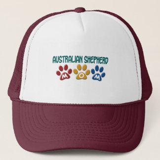 AUSTRALIAN SHEPHERD MOM Paw Print Trucker Hat