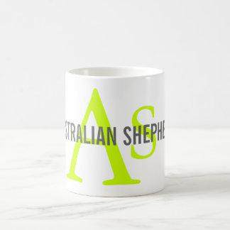 Australian Shepherd Monogram Basic White Mug