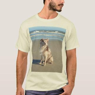 Australian Shepherd on Beach T-Shirt
