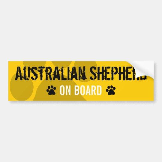 Australian Shepherd on Board Bumper Sticker