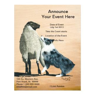 "Australian Shepherd ""One Tough Sheepdog"" Painting Flyer Design"