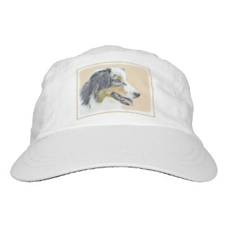 Australian Shepherd Painting - Original Dog Art Hat