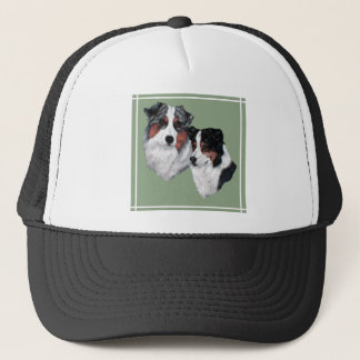 Australian Shepherd Pair Trucker Hat